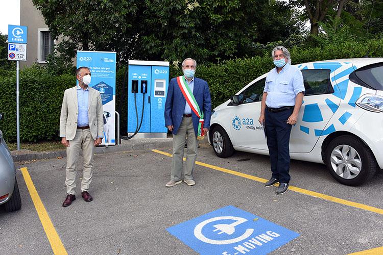 Inaugurata la nuova rete di ricarica per veicoli elettrici di Cellatica