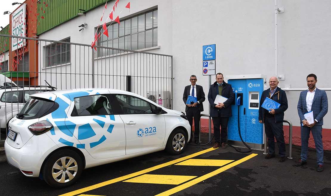 Inaugurato a Brescia un nuovo punto di ricarica per veicoli elettrici